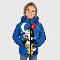 Куртка зимняя для мальчика Trally Wally цвета 3D-черный — фото 2