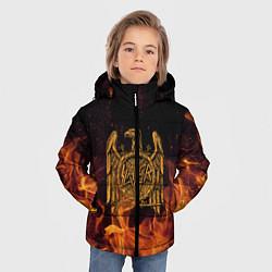 Куртка зимняя для мальчика Slayer: Fire Eagle цвета 3D-черный — фото 2