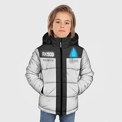 Куртка зимняя для мальчика RK900: Become Human цвета 3D-черный — фото 2