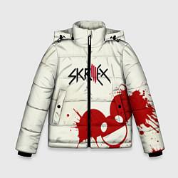 Куртка зимняя для мальчика Skrillex ft. Deadmau5 цвета 3D-черный — фото 1