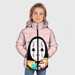 Детская зимняя куртка для мальчика с принтом Унесенные призраками, цвет: 3D-черный, артикул: 10155852506063 — фото 2