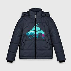 Детская зимняя куртка для мальчика с принтом Унесённые призраками, цвет: 3D-черный, артикул: 10155937706063 — фото 1