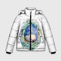 Куртка зимняя для мальчика Сказочный Тоторо цвета 3D-черный — фото 1
