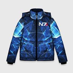 Куртка зимняя для мальчика Mass Effect: Blue Armor N7 цвета 3D-черный — фото 1
