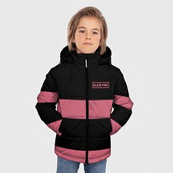 Куртка зимняя для мальчика Black Pink: Jennie 96 цвета 3D-черный — фото 2