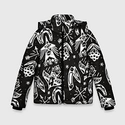 Куртка зимняя для мальчика Сибирские мотивы цвета 3D-черный — фото 1