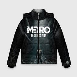 Детская зимняя куртка для мальчика с принтом Metro Exodus, цвет: 3D-черный, артикул: 10160290306063 — фото 1