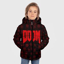 Куртка зимняя для мальчика DOOM: Hellish signs цвета 3D-черный — фото 2