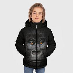 Детская зимняя куртка для мальчика с принтом Морда Гориллы, цвет: 3D-черный, артикул: 10161070506063 — фото 2