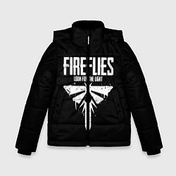 Куртка зимняя для мальчика Fireflies: White Logo цвета 3D-черный — фото 1