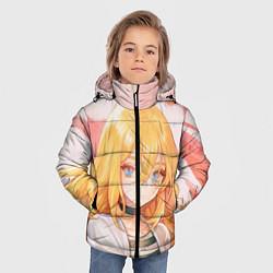 Куртка зимняя для мальчика Satsuriku no Tenshi цвета 3D-черный — фото 2