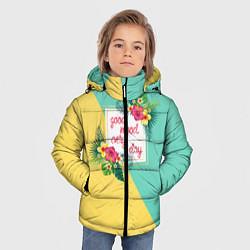 Куртка зимняя для мальчика Good Mood Every Day цвета 3D-черный — фото 2