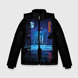 Куртка зимняя для мальчика Blade Runner: Dark Night цвета 3D-черный — фото 1