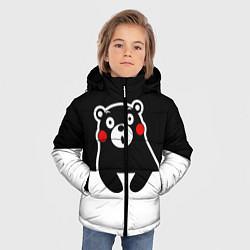 Детская зимняя куртка для мальчика с принтом Kumamon Surprised, цвет: 3D-черный, артикул: 10162547706063 — фото 2
