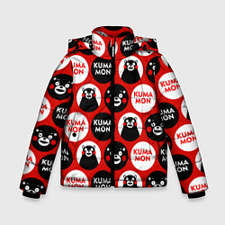 Куртка зимняя для мальчика Kumamon Pattern цвета 3D-черный — фото 1
