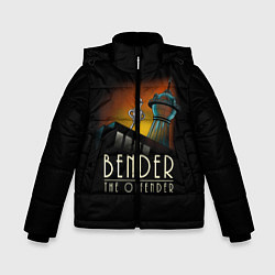 Куртка зимняя для мальчика Bender The Offender цвета 3D-черный — фото 1
