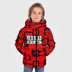 Куртка зимняя для мальчика Red Dead Redemption 2 цвета 3D-черный — фото 2