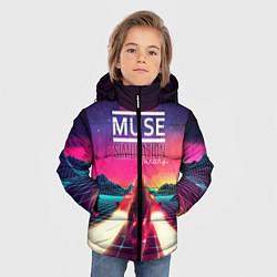 Куртка зимняя для мальчика Muse: Simulation Theory цвета 3D-черный — фото 2