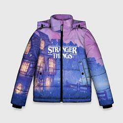 Куртка зимняя для мальчика Stranger Things: Magic House цвета 3D-черный — фото 1