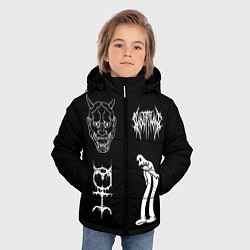 Куртка зимняя для мальчика Ghostemane: Mercury Sign цвета 3D-черный — фото 2