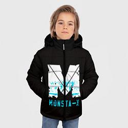 Детская зимняя куртка для мальчика с принтом MONSTA X, цвет: 3D-черный, артикул: 10170154506063 — фото 2