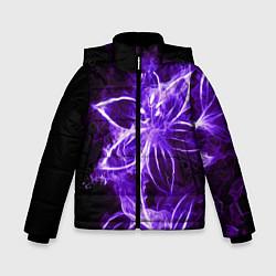 Куртка зимняя для мальчика Цветок Тьмы цвета 3D-черный — фото 1