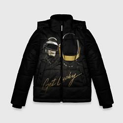 Детская зимняя куртка для мальчика с принтом Daft Punk: Get Lucky, цвет: 3D-черный, артикул: 10171252906063 — фото 1