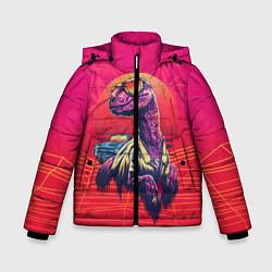 Куртка зимняя для мальчика Gangsta Dino цвета 3D-черный — фото 1