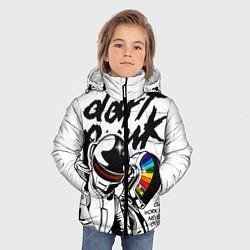 Детская зимняя куртка для мальчика с принтом Daft Punk: Our work is never over, цвет: 3D-черный, артикул: 10171356906063 — фото 2
