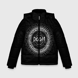 Куртка зимняя для мальчика DOOM: Pentagram цвета 3D-черный — фото 1