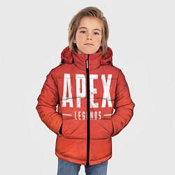Куртка зимняя для мальчика Apex Legends: Red Logo цвета 3D-черный — фото 2