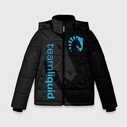 Детская зимняя куртка для мальчика с принтом TEAM LIQUID, цвет: 3D-черный, артикул: 10172456706063 — фото 1
