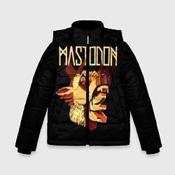 Детская зимняя куртка для мальчика с принтом Mastodon: Leviathan, цвет: 3D-черный, артикул: 10172767506063 — фото 1