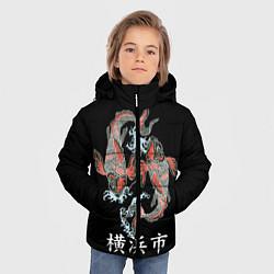 Детская зимняя куртка для мальчика с принтом Иокогама, цвет: 3D-черный, артикул: 10173336306063 — фото 2