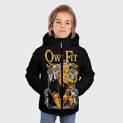 Куртка зимняя для мальчика Owl Fit цвета 3D-черный — фото 2