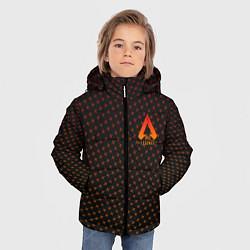 Куртка зимняя для мальчика Apex Legends: Orange Dotted цвета 3D-черный — фото 2