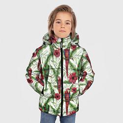 Куртка зимняя для мальчика Попугаи Ара цвета 3D-черный — фото 2