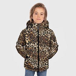 Куртка зимняя для мальчика Шкура леопарда цвета 3D-черный — фото 2