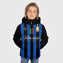 Детская зимняя куртка для мальчика с принтом Internazionale Milano, цвет: 3D-черный, артикул: 10174520506063 — фото 2