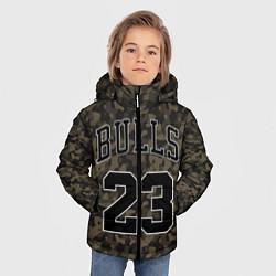 Куртка зимняя для мальчика Chicago Bulls 23: Khaki Camo цвета 3D-черный — фото 2