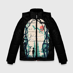 Куртка зимняя для мальчика Хранители Леса цвета 3D-черный — фото 1