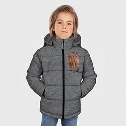 Куртка зимняя для мальчика Rebel Alliance цвета 3D-черный — фото 2