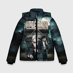Куртка зимняя для мальчика LINDEMANN: Skills in Pills цвета 3D-черный — фото 1