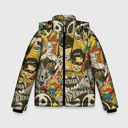 Куртка зимняя для мальчика DC Comics цвета 3D-черный — фото 1