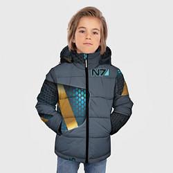 Куртка зимняя для мальчика Mass Effect N7 цвета 3D-черный — фото 2