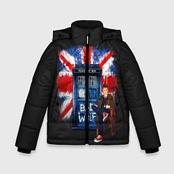 Куртка зимняя для мальчика Doctor Who: Bad Wolf цвета 3D-черный — фото 1