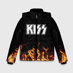 Куртка зимняя для мальчика Kiss: Hell Flame цвета 3D-черный — фото 1