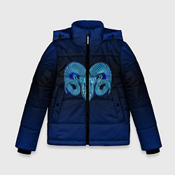 Куртка зимняя для мальчика Знаки Зодиака Овен цвета 3D-черный — фото 1