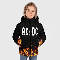 Куртка зимняя для мальчика AC DC цвета 3D-черный — фото 2