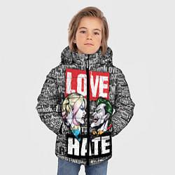 Куртка зимняя для мальчика Love Hate цвета 3D-черный — фото 2
